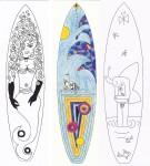 Surfboard - Entwürfe